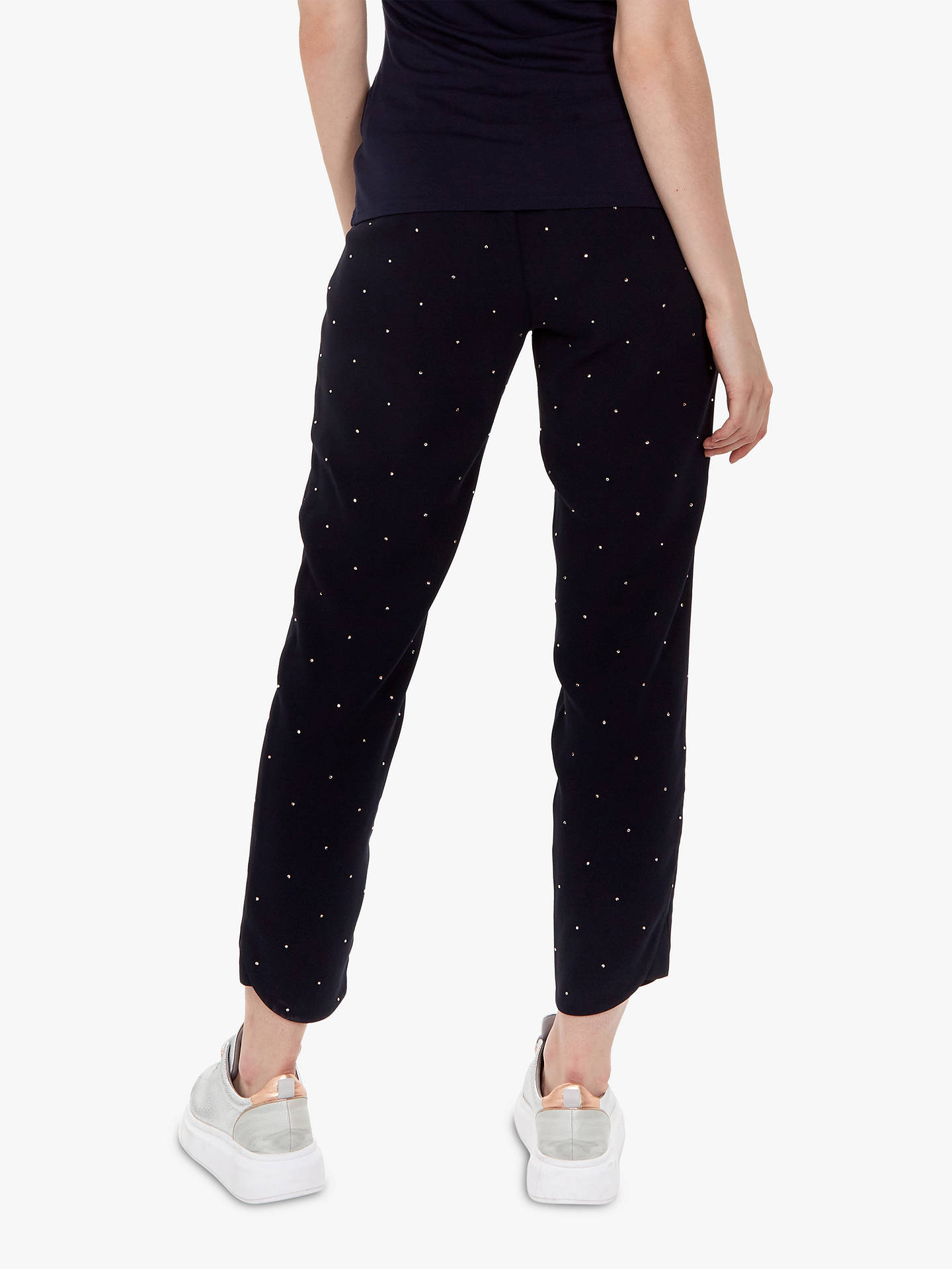 Buy Ted Baker Bobbii Embroidered Joggers, Navy, XL Online at johnlewis.com