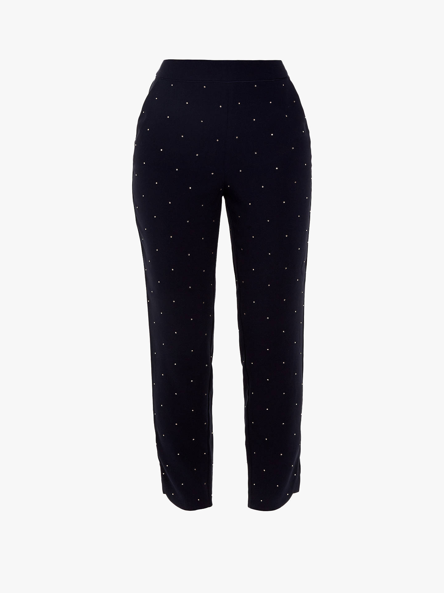 Buy Ted Baker Bobbii Embroidered Joggers, Navy, XXS Online at johnlewis.com