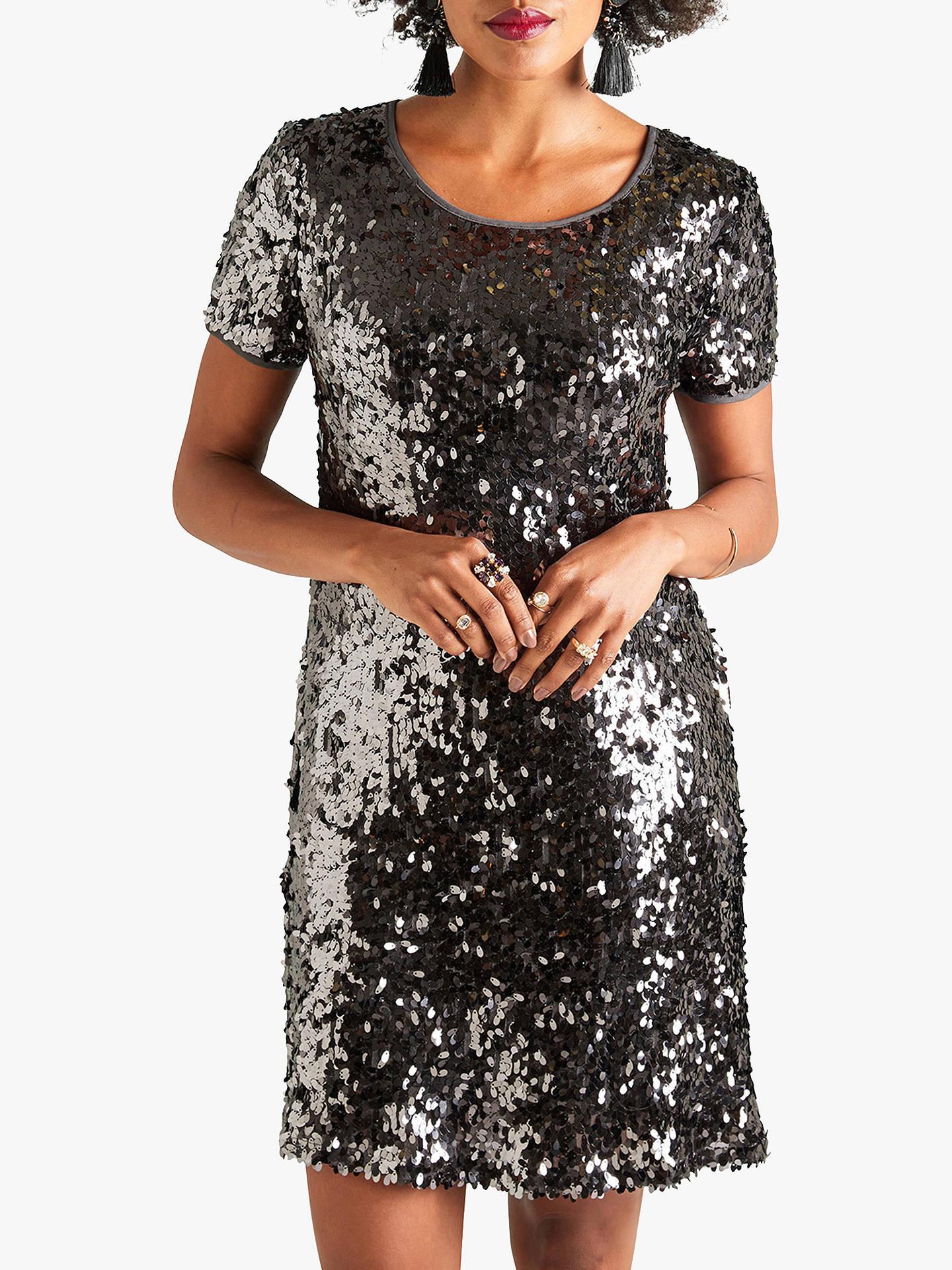 fbb2cecc25 Buy Yumi Sequin Tunic Dress, Grey, 8 Online at johnlewis.com ...
