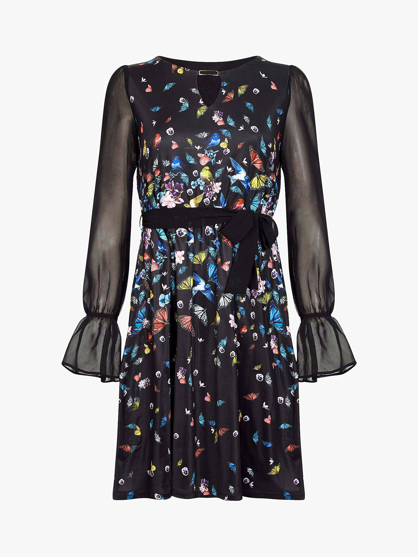 BuyYumi Sheer Sleeve Dress, Black, 8 Online at johnlewis.com