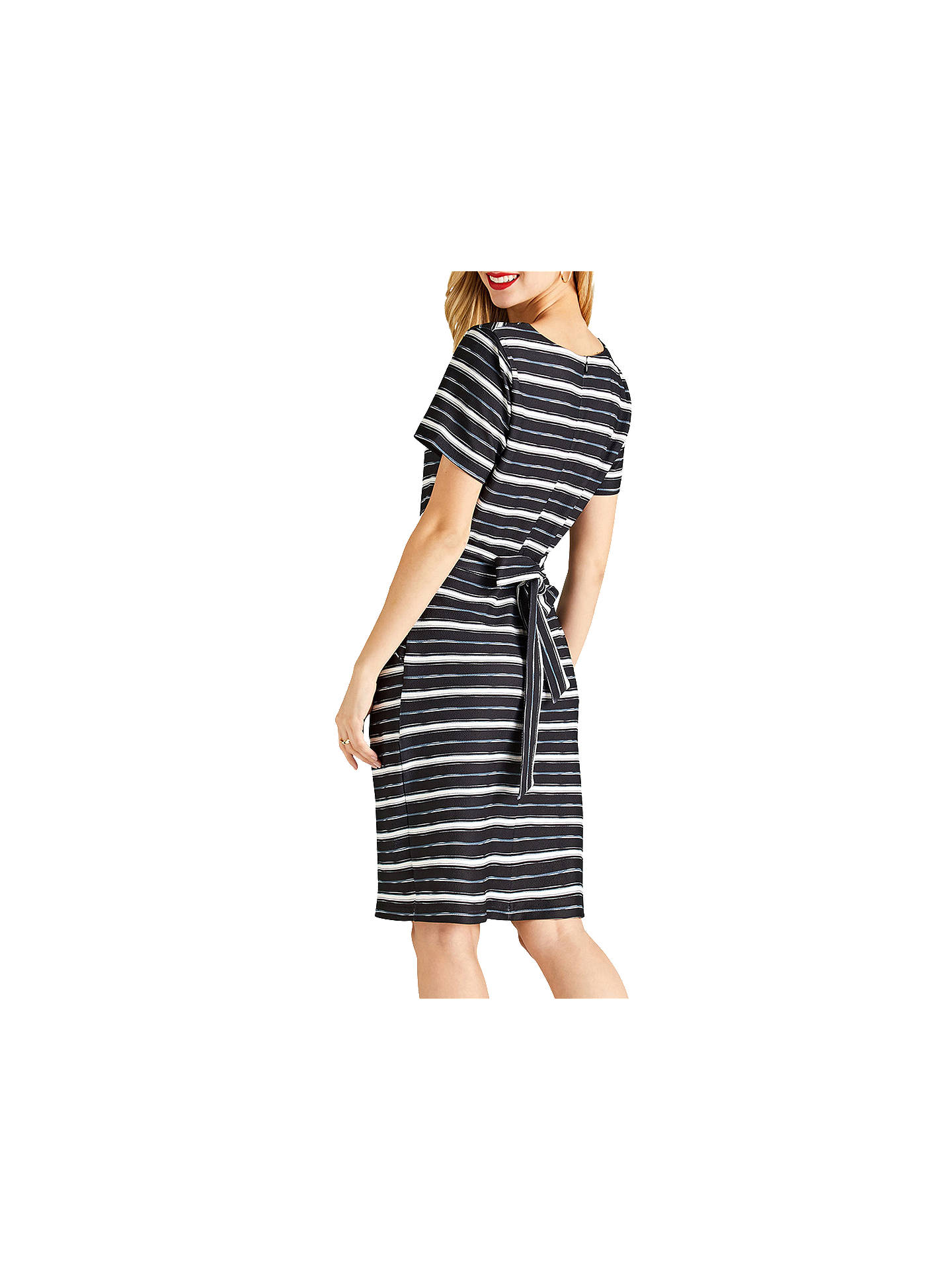 BuyYumi Striped Tulip Dress, Black, 8 Online at johnlewis.com