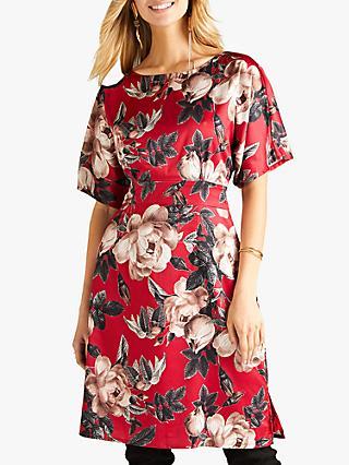 4541a10ccb279 Yumi Floral Satin Kimono Dress