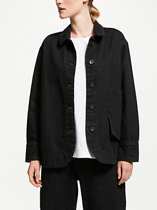 Kin Japanese Workwear Denim Jacket, Black