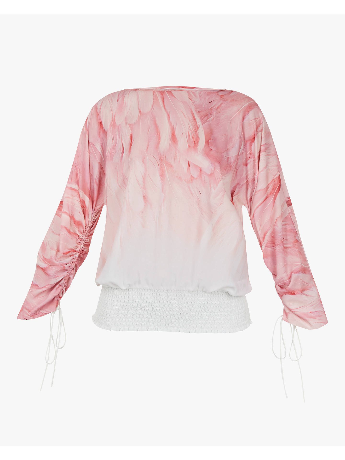 Buy Ted Baker Avvi Angel Falls Sheared Sleeve Top, Light Pink, XL Online at johnlewis.com