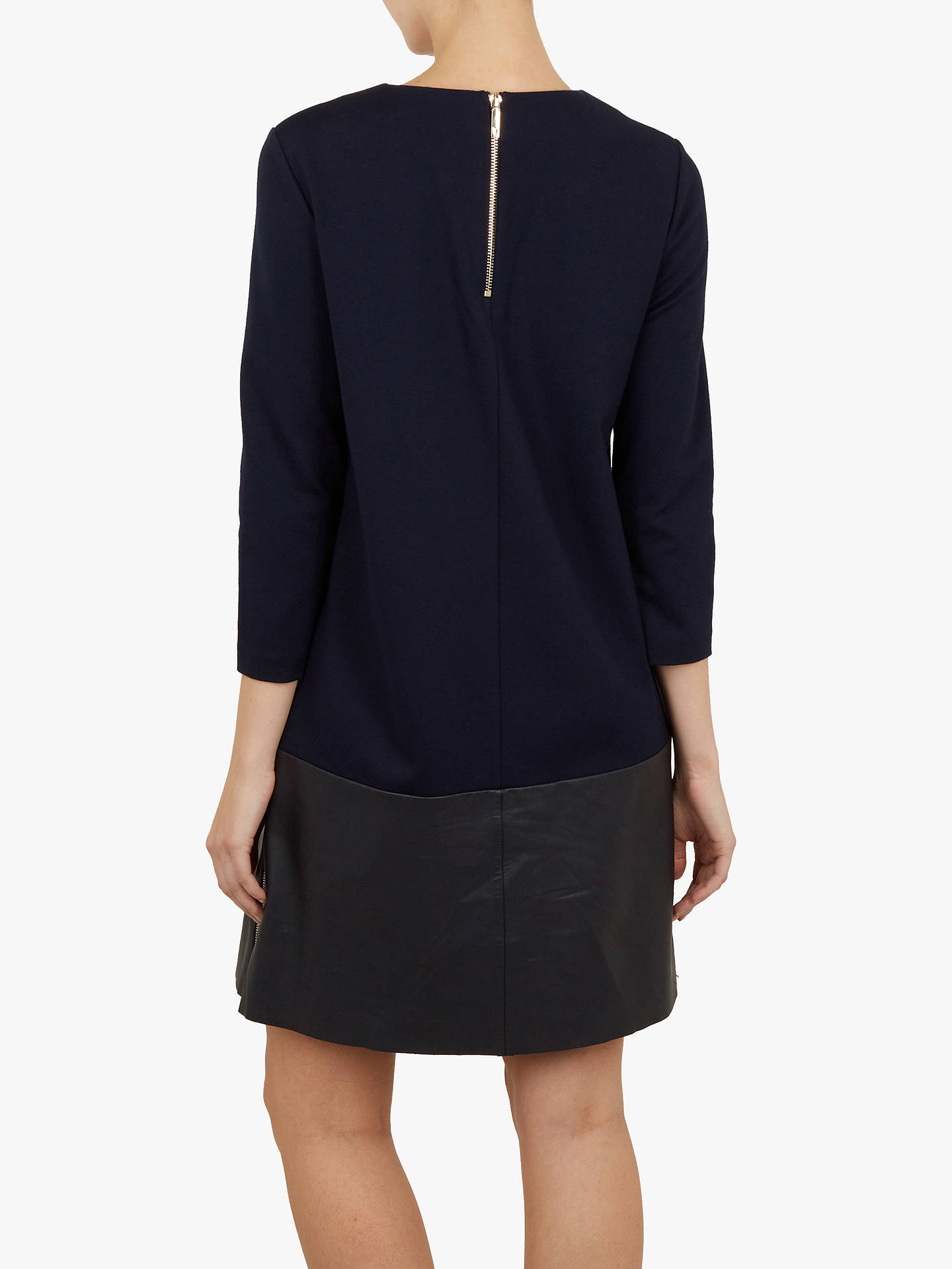 Buy Ted Baker Olyie Detail Shift Dress, Blue Navy, XXS Online at johnlewis.com