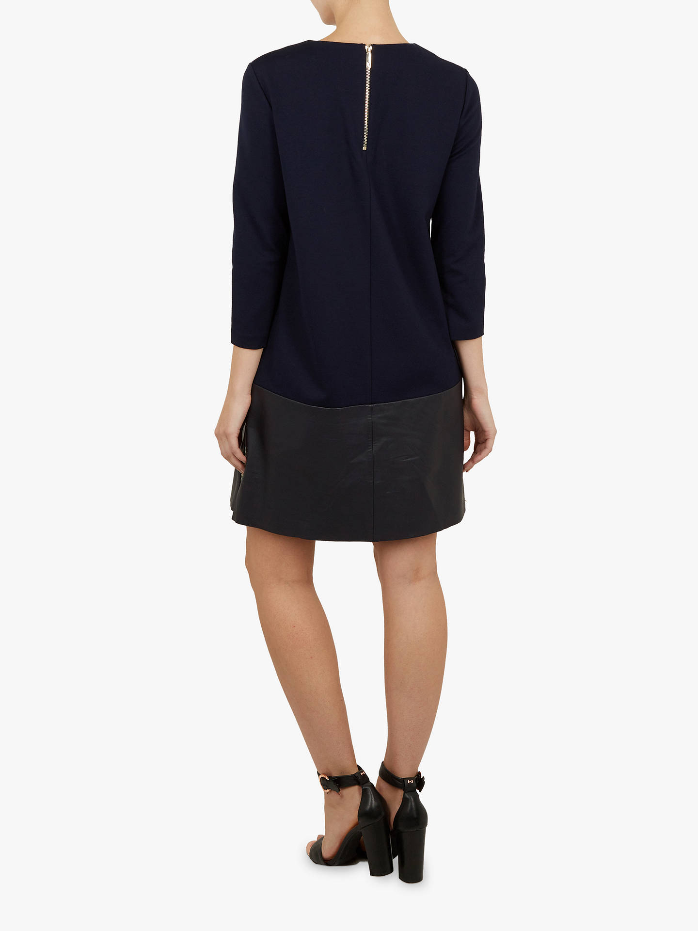 Buy Ted Baker Olyie Detail Shift Dress, Blue Navy, L Online at johnlewis.com