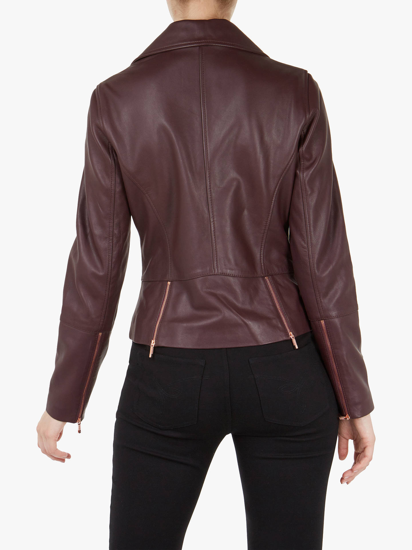 suitable for men/women moderate cost shop for newest Ted Baker Lizia Minimal Biker Jacket at John Lewis & Partners