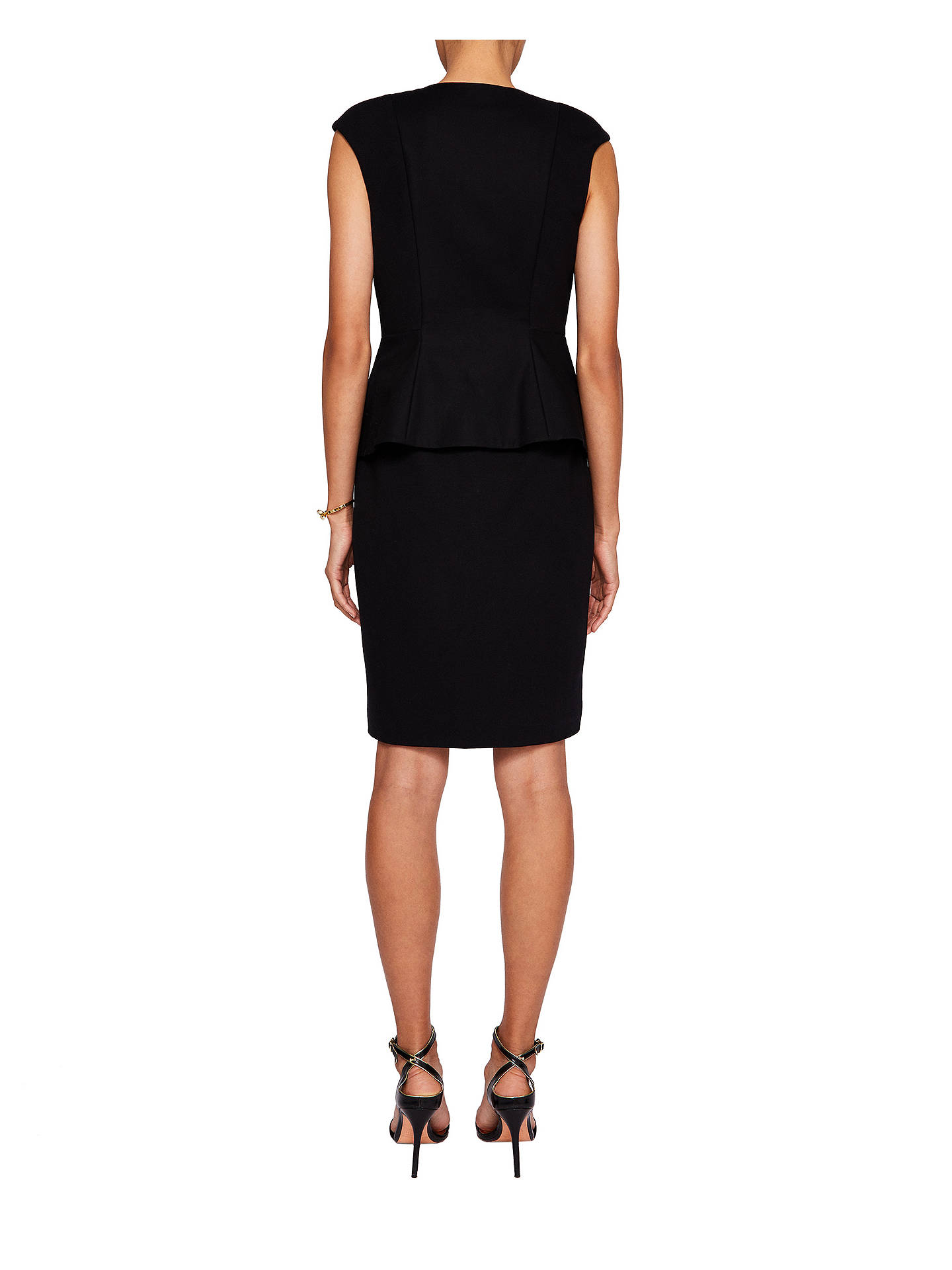 Buy Ted Baker Jamthun Structured Zip Detail Dress, Navy, XL Online at johnlewis.com
