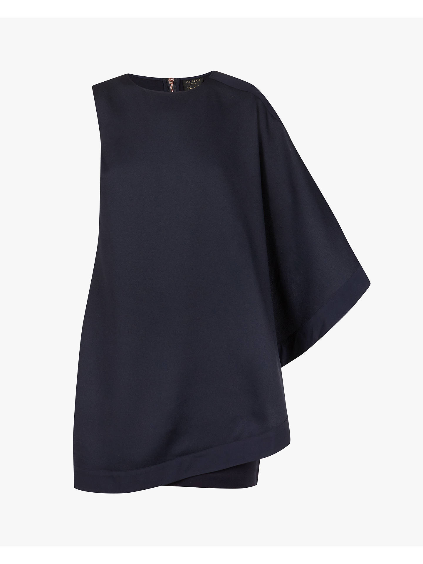BuyTed Baker Bolty Draped Tunic Dress, Navy, XXS Online at johnlewis.com