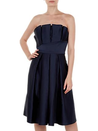1f3006c85820bb Ted Baker Pippaa Pleated Strapless Dress