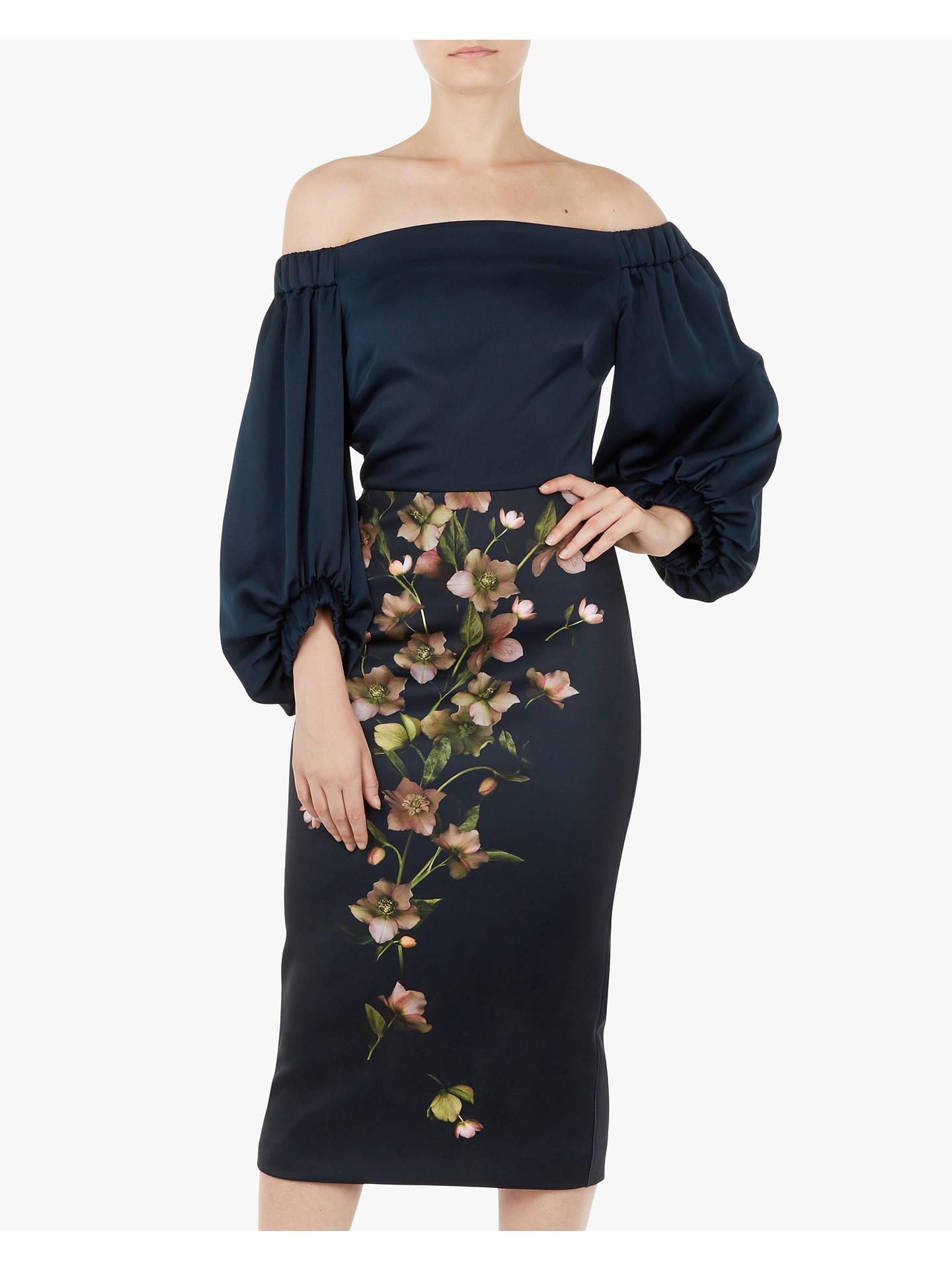 764f6958b3c81 Buy Ted Baker Beaa Soft Blossom Bardot Balloon Sleeve Dress