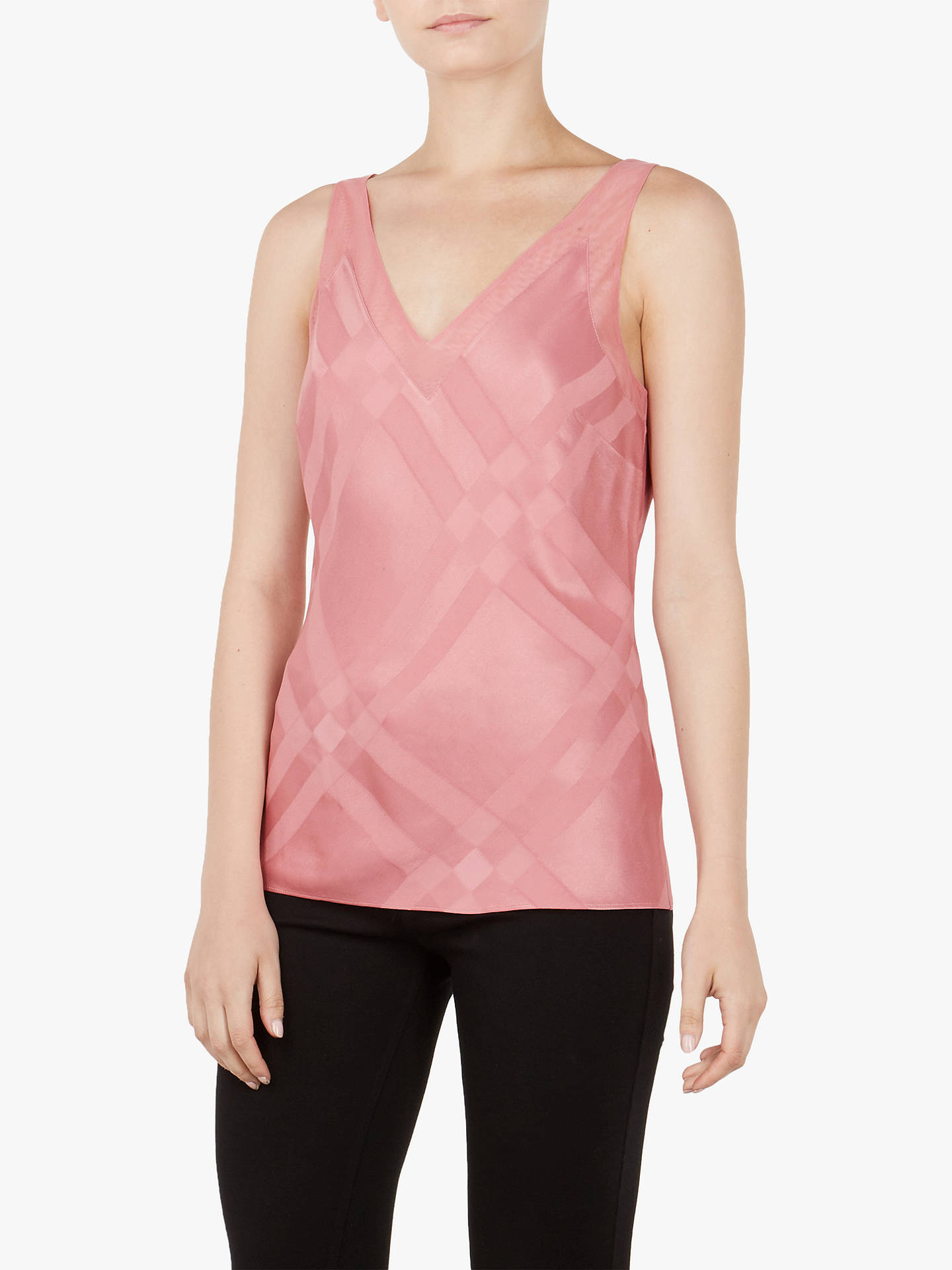 Buy Ted Baker Elten V-Neck Cami, Orange Coral, XL Online at johnlewis.com