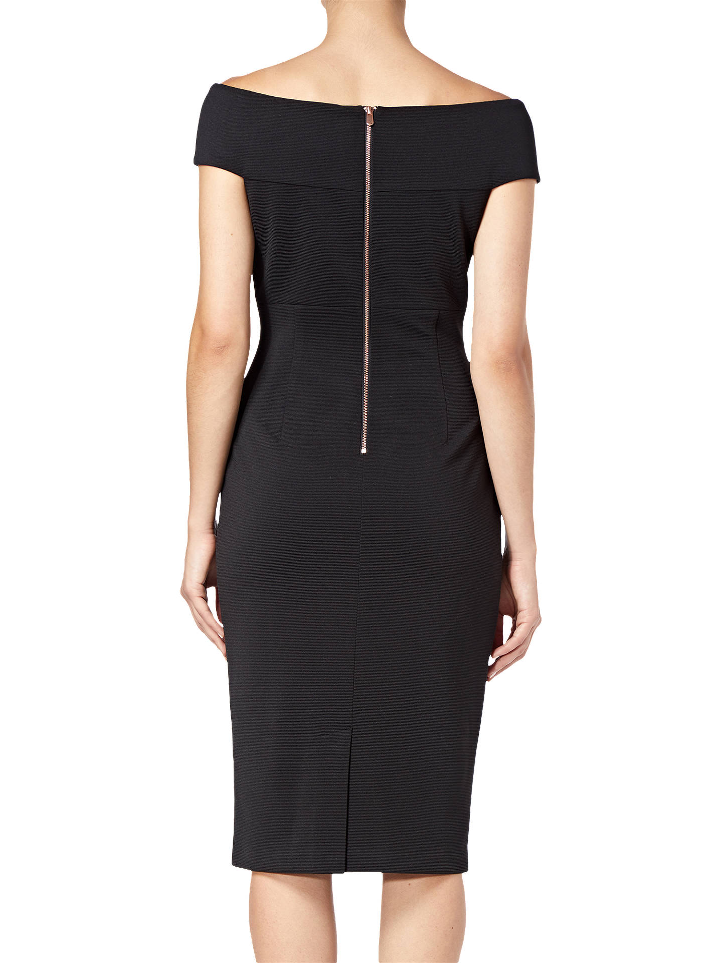 BuyAdrianna Papell Plus Size Daphne Ottoman Sheath Dress, Black, 24 Online at johnlewis.com