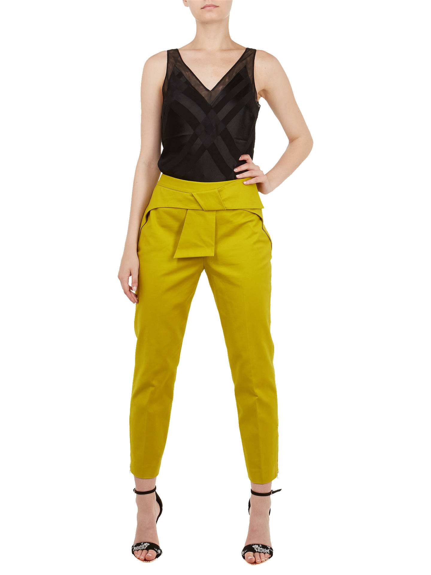 Buy Ted Baker Elten V-Neck Camisole Top, Black, S Online at johnlewis.com