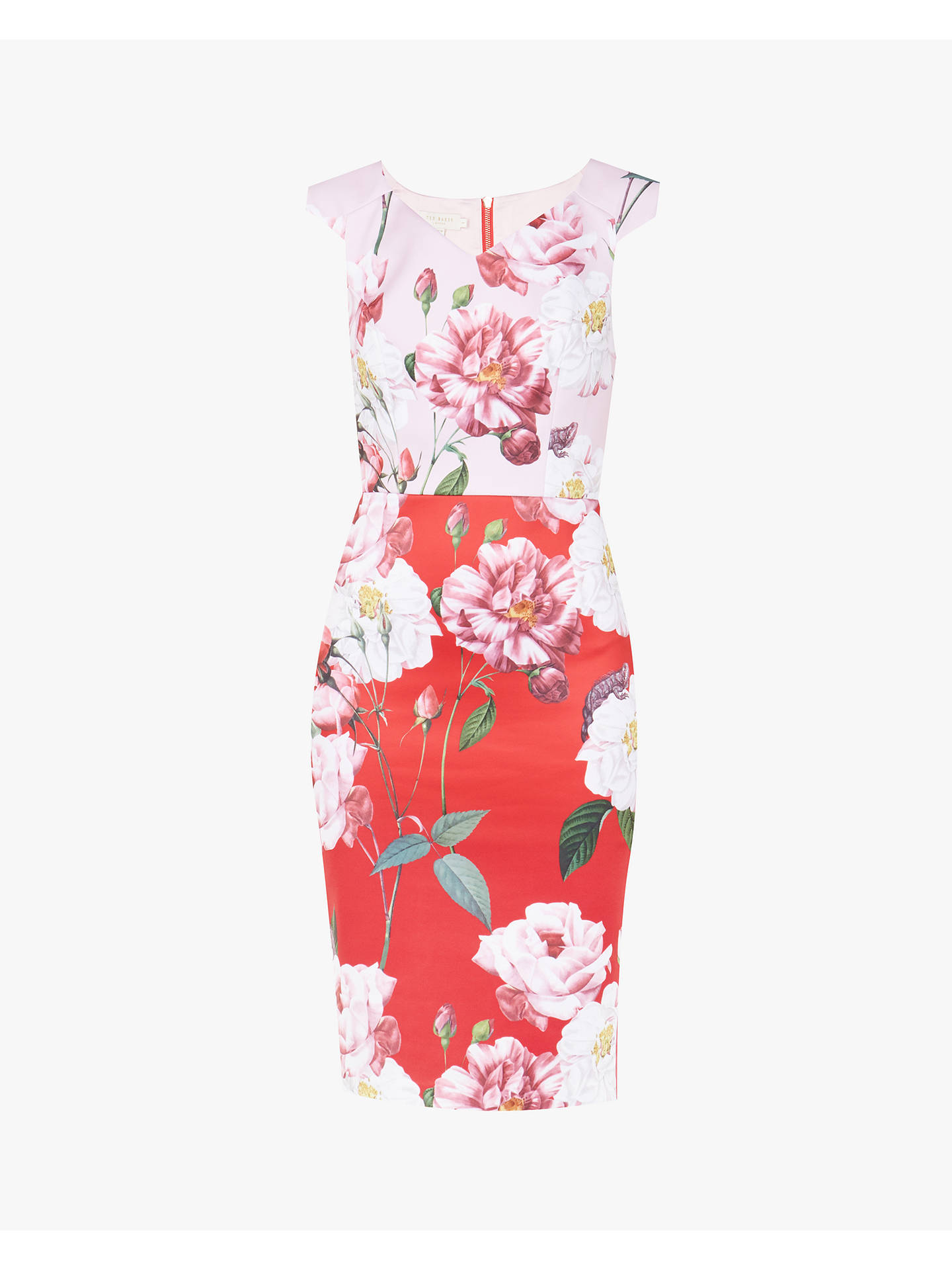 Buy Ted Baker Saafi Iguazu Print Pencil Dress, Red/Multi, 0 Online at johnlewis.com