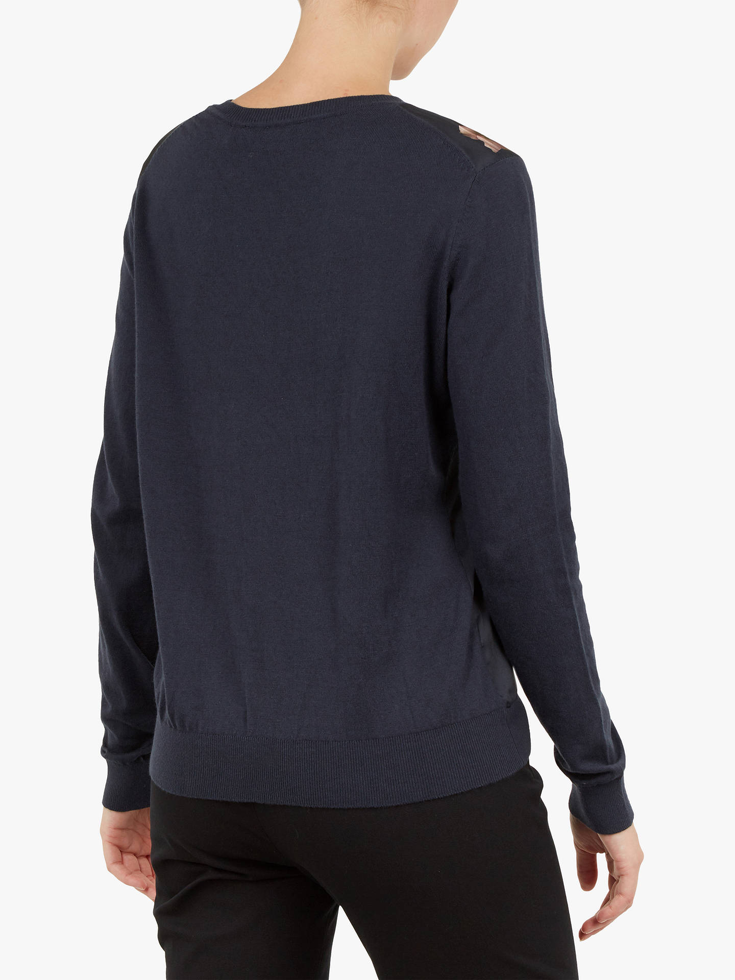 Buy Ted Baker Sowfiee Knit Jumper, Blue Navy, XXS Online at johnlewis.com