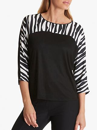 Betty Barclay Zebra Print Top, White/Black