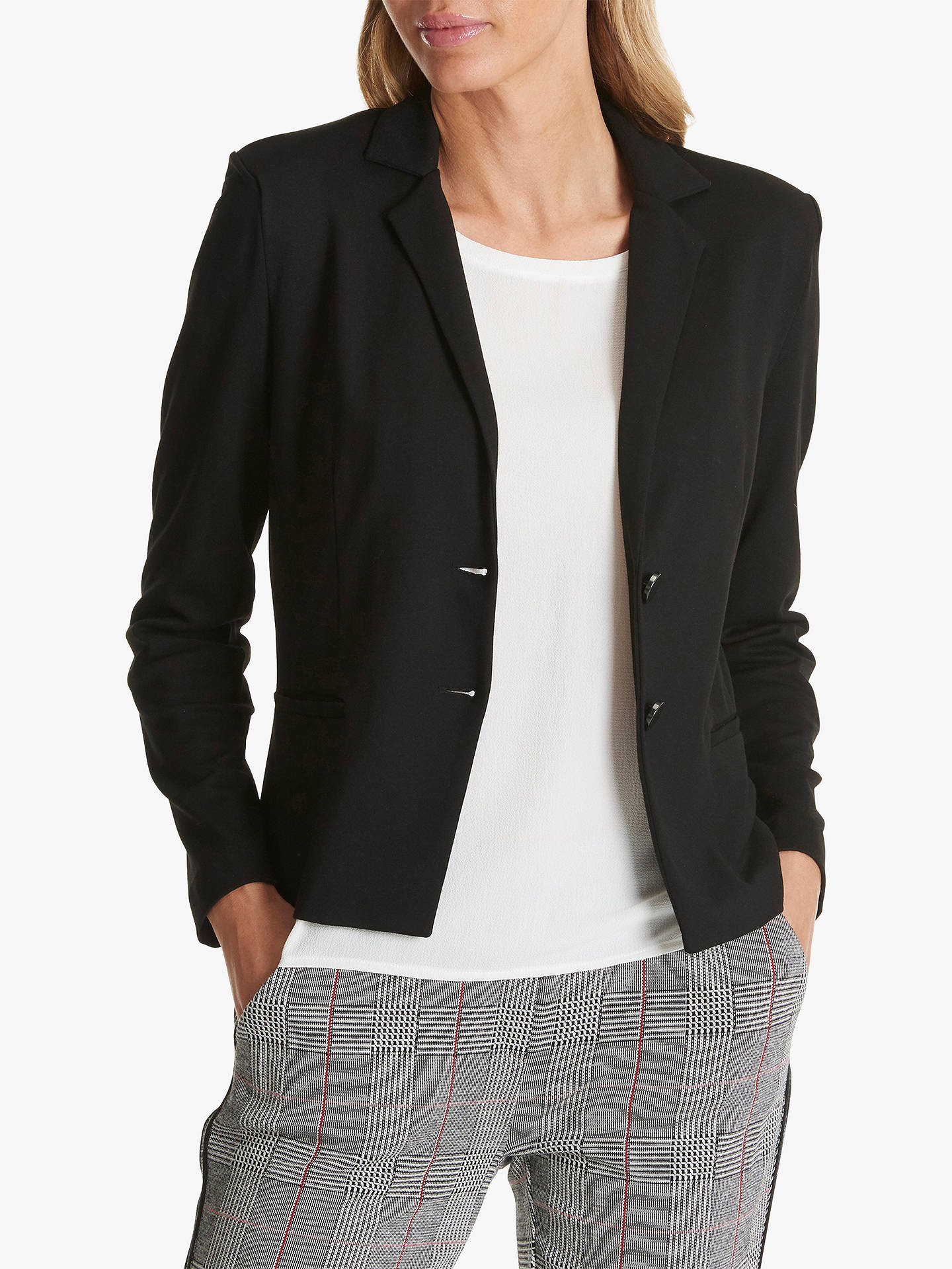 Buy Betty Barclay Lapel Collar Blazer, Black, 10 Online at johnlewis.com