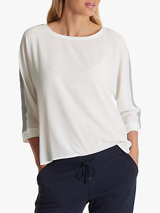 Betty Barclay Crepe Jersey Top, White/Silver