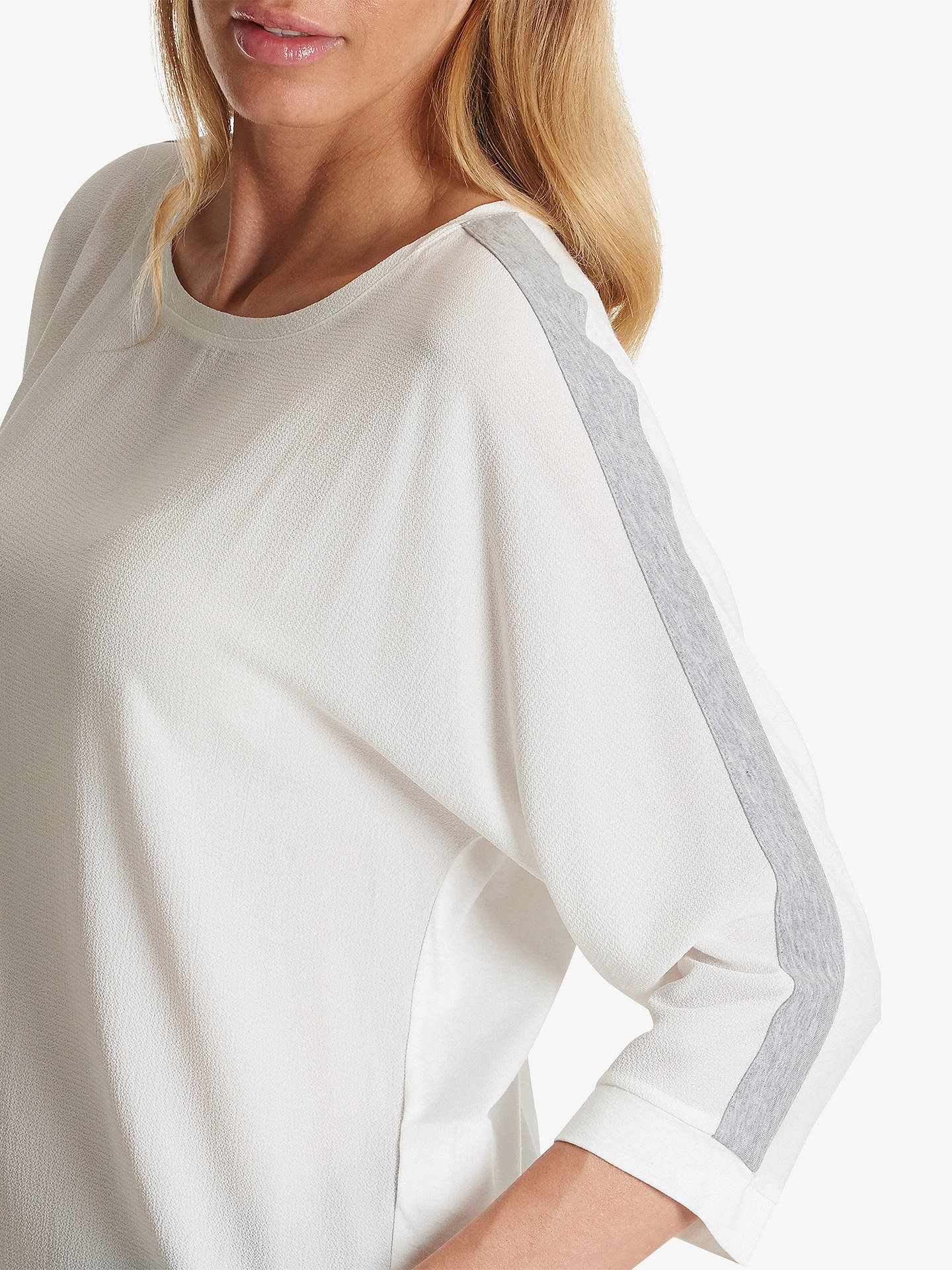 Buy Betty Barclay Crepe Jersey Top, White/Silver, 10 Online at johnlewis.com