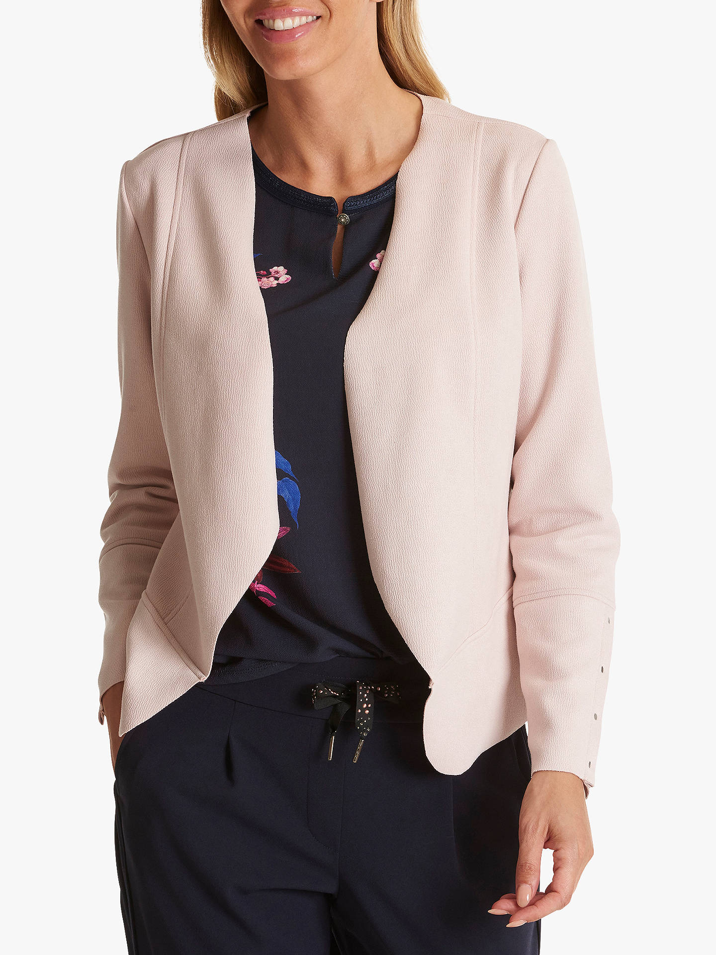 Buy Betty Barclay Faux Suede Jacket, Shadow Rose, 10 Online at johnlewis.com