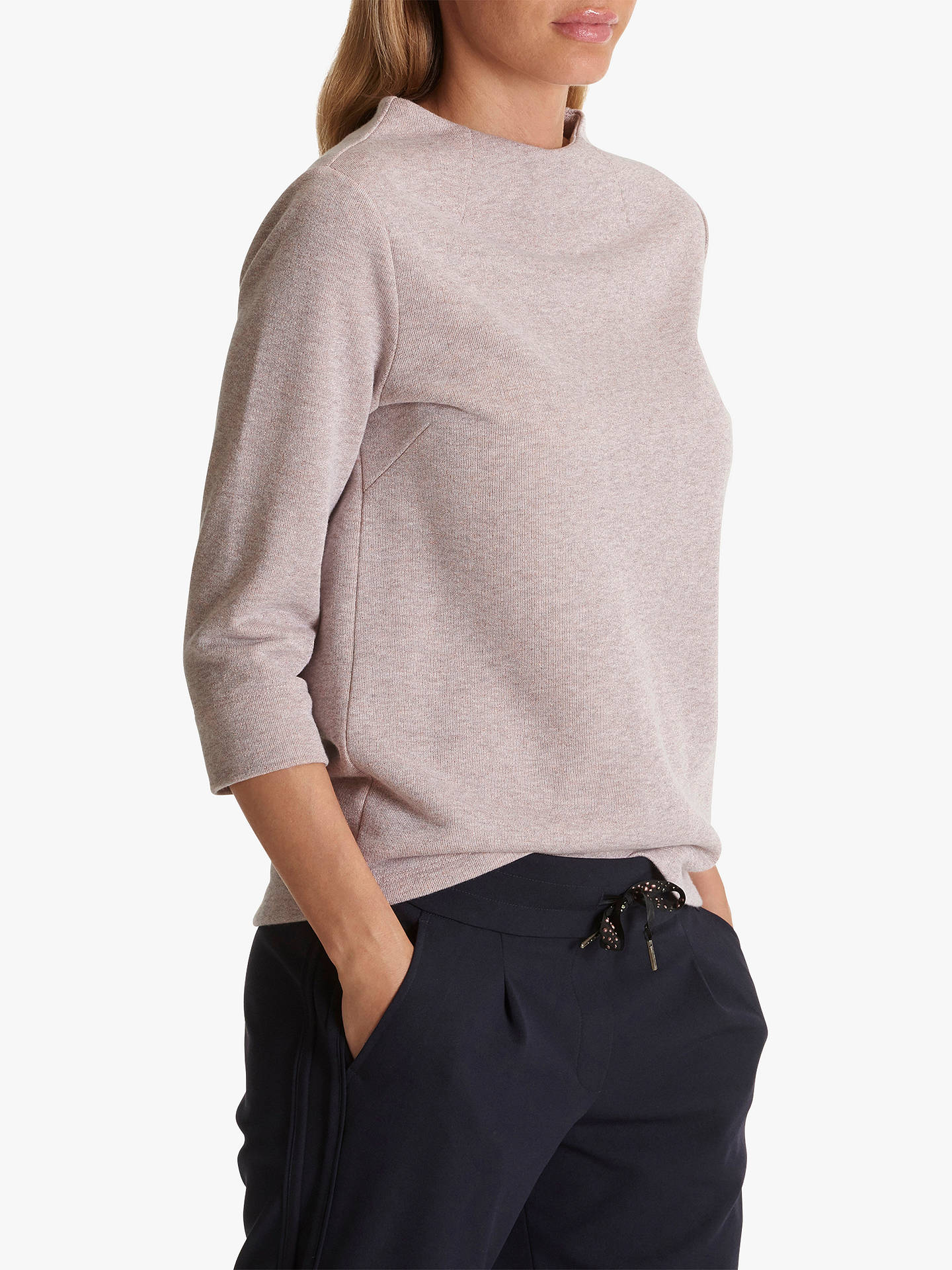Buy Betty Barclay High-Neck Jumper, Rose Melange, 10 Online at johnlewis.com