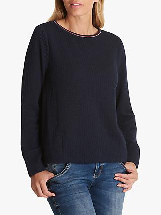 Betty & Co.Textured Top, Mood Blue