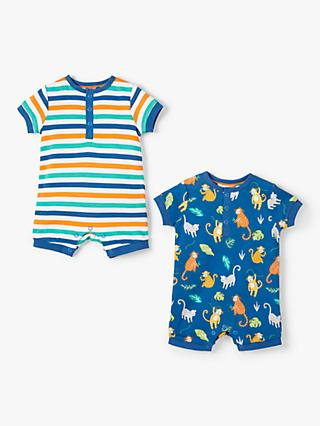 216296bf392d John Lewis   Partners Baby Monkey and Stripe Romper