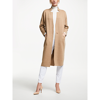 Winser London Double Faced Coat, Neutral/Camel