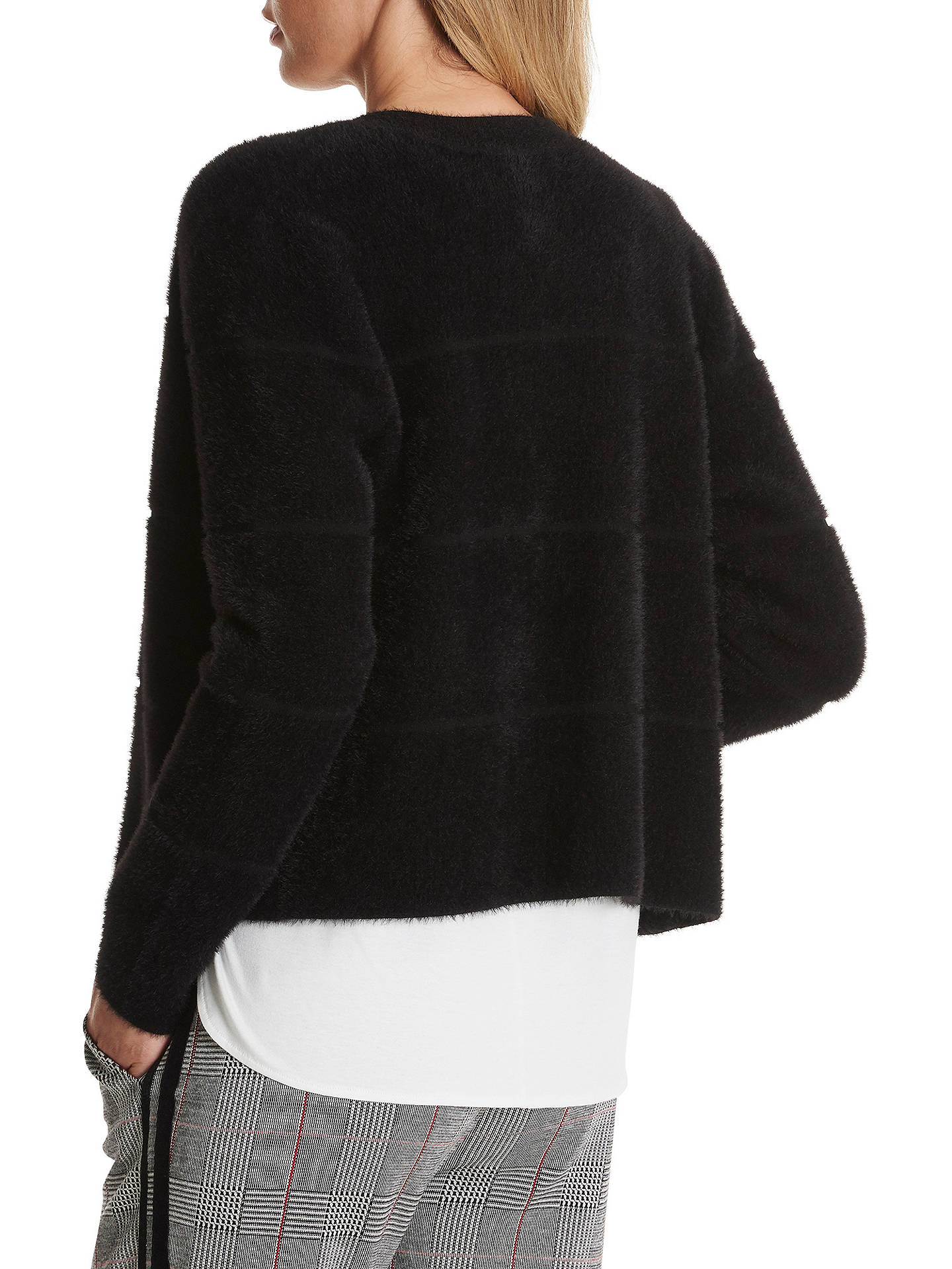 Buy Betty Barclay Furry Jacket, Black, 10 Online at johnlewis.com
