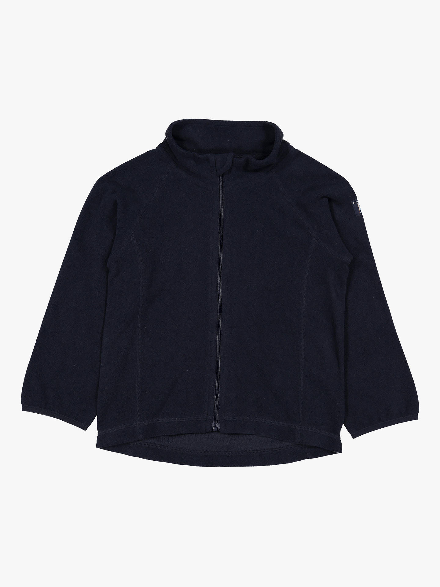 Buy Polarn O. Pyret Baby Zip Fleece Jacket, Blue, 12-24 months Online at johnlewis.com