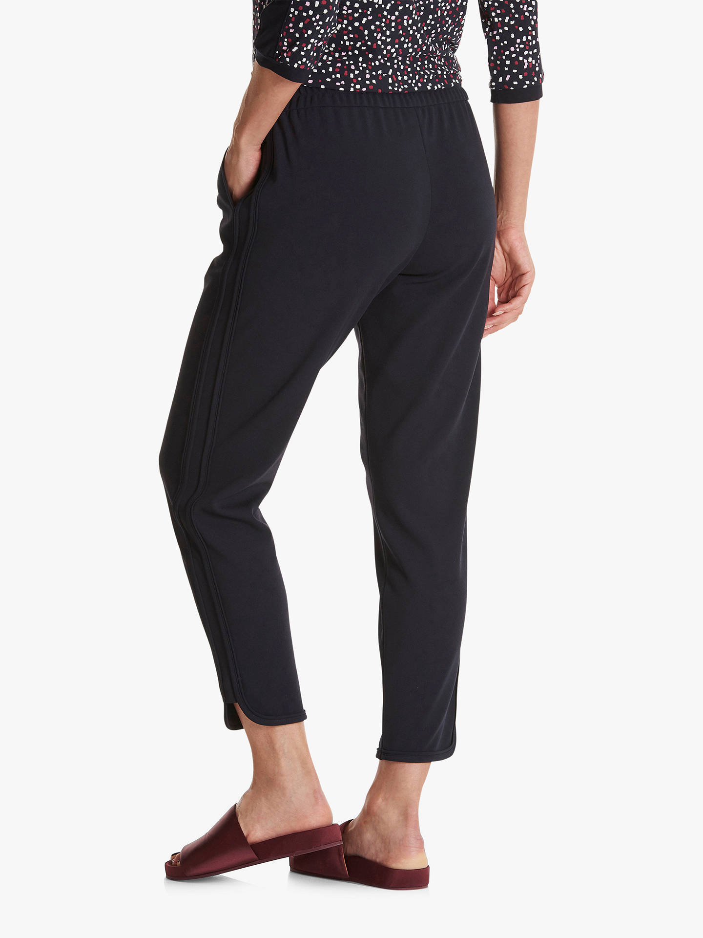 Buy Betty Barclay Sporty Split Hem Detail Crepe Pants, Mood Blue, 10 Online at johnlewis.com