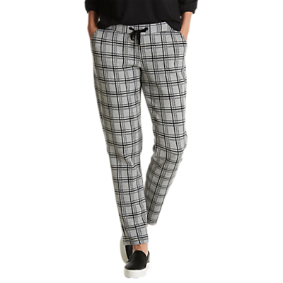 Betty Barclay Checked Trousers, Black Grey