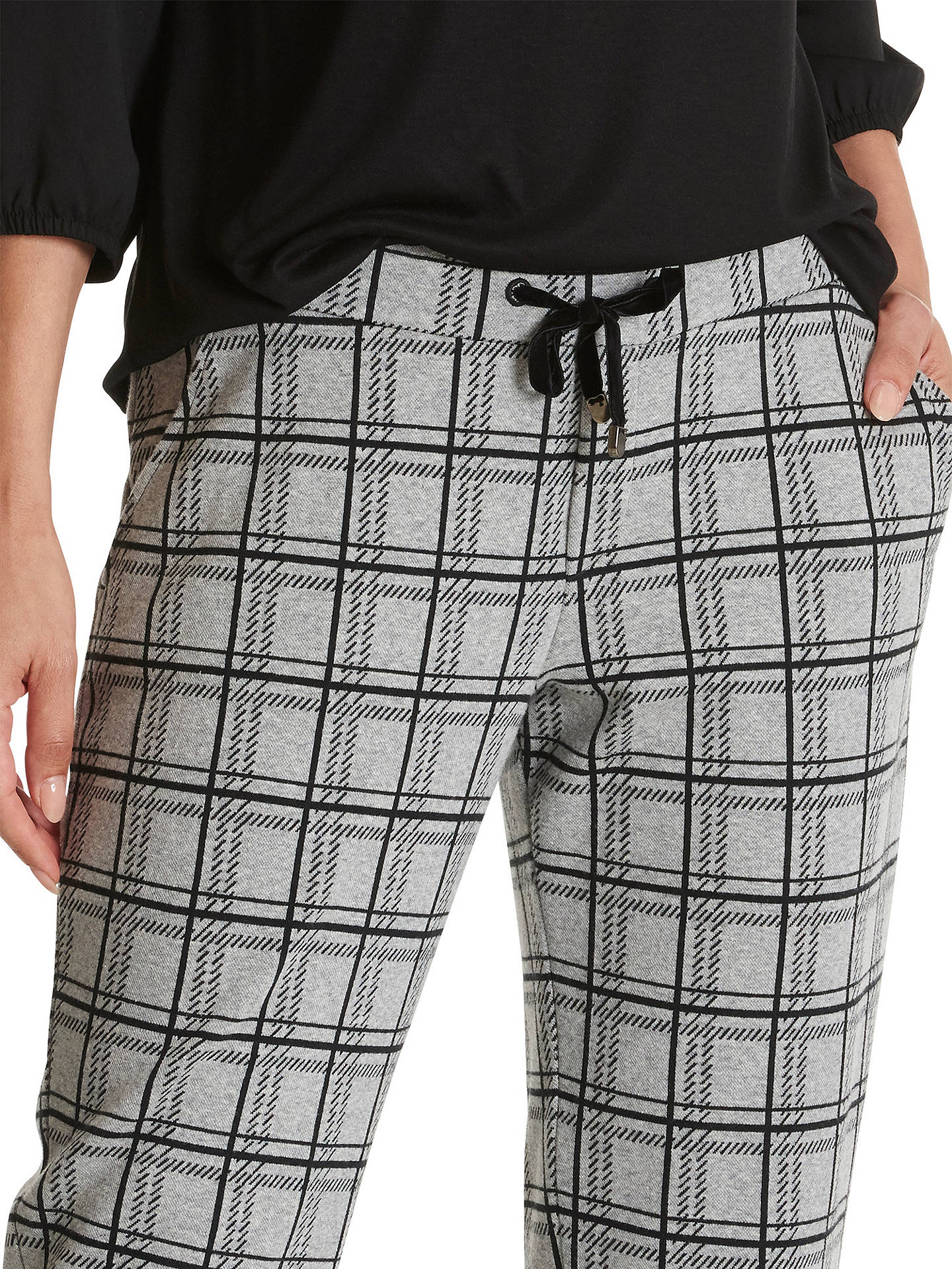 Buy Betty Barclay Checked Trousers, Black Grey, 10 Online at johnlewis.com
