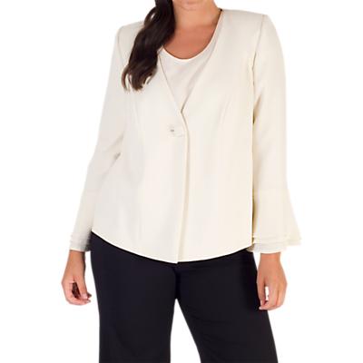 Chesca Flounce Cuff Jacket, White
