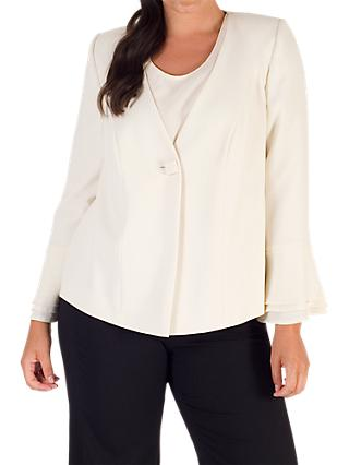 Chesca Flounce Cuff Jacket, White