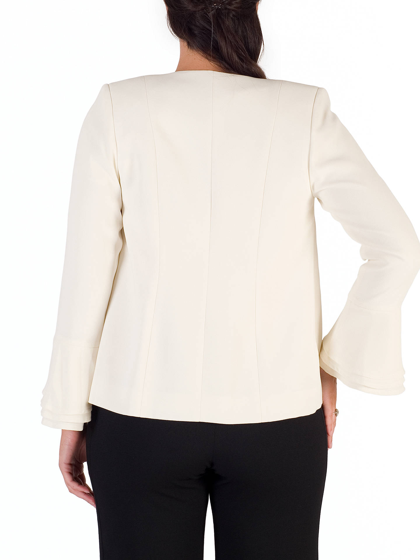 BuyChesca Flounce Cuff Jacket, White, 12 Online at johnlewis.com