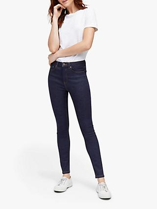Warehouse Powerhold Skinny Jeans, Blue Denim