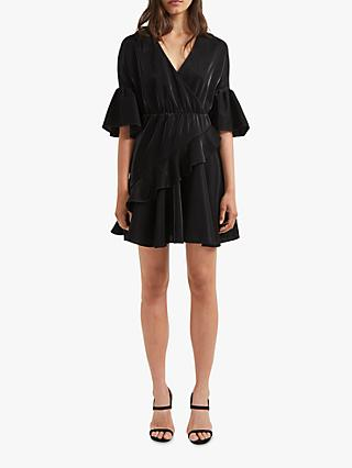 French Connection Ellette Wrap Dress, Black