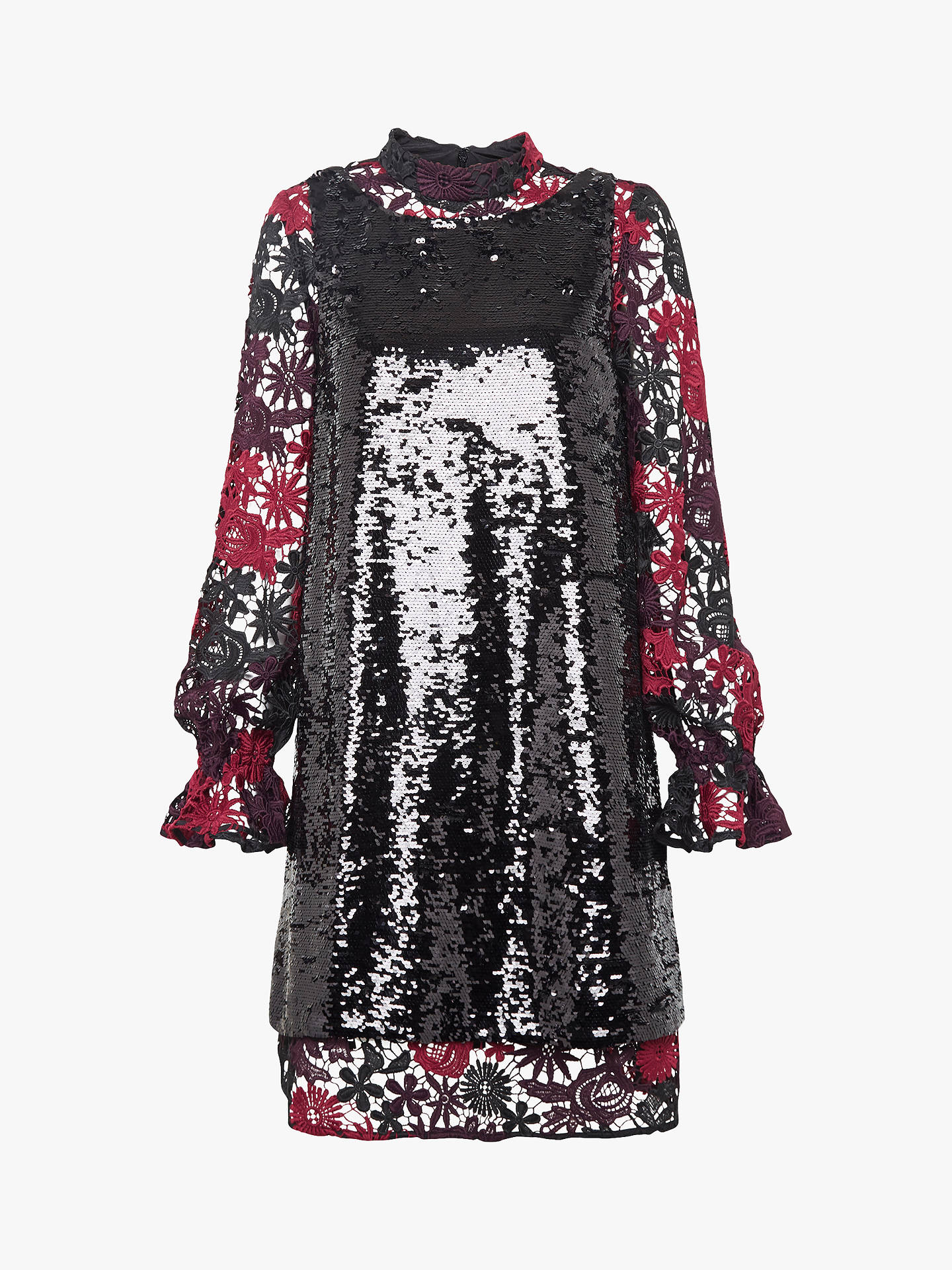 48af5c3b ... Buy French Connection Cynthia Sequin Dress, Black, 12 Online at  johnlewis.com ...