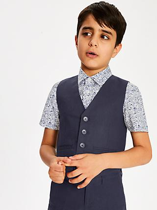 043ebade5 John Lewis & Partners Heirloom Collection Boys' Linen Blend Waistcoat, ...