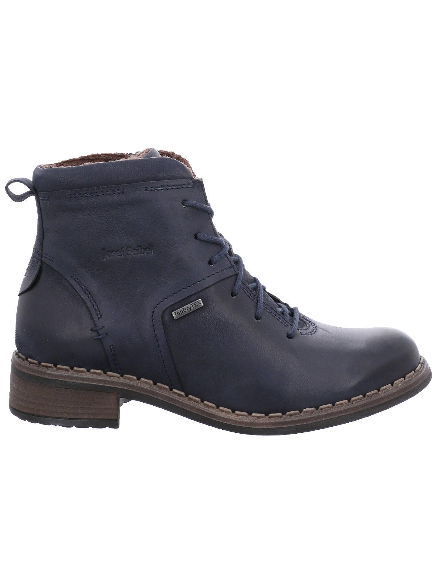 65105ec8 Buy Josef Seibel Selena 50 Waterproof Ankle Boots, Ocean Leather, 3 Online  at johnlewis ...