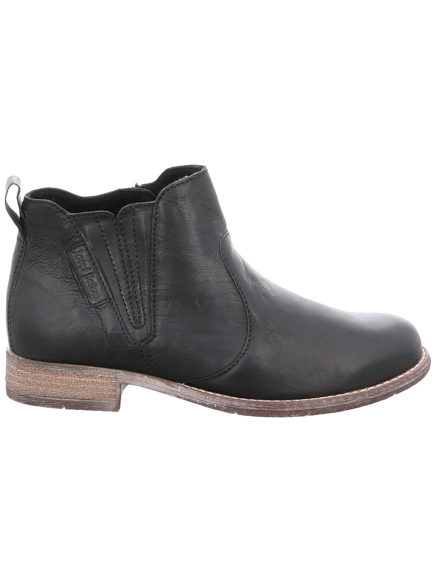 8f3d498a Buy Josef Seibel Sienna 45 Block Heel Ankle Boots, Black Leather, 3 Online  at ...