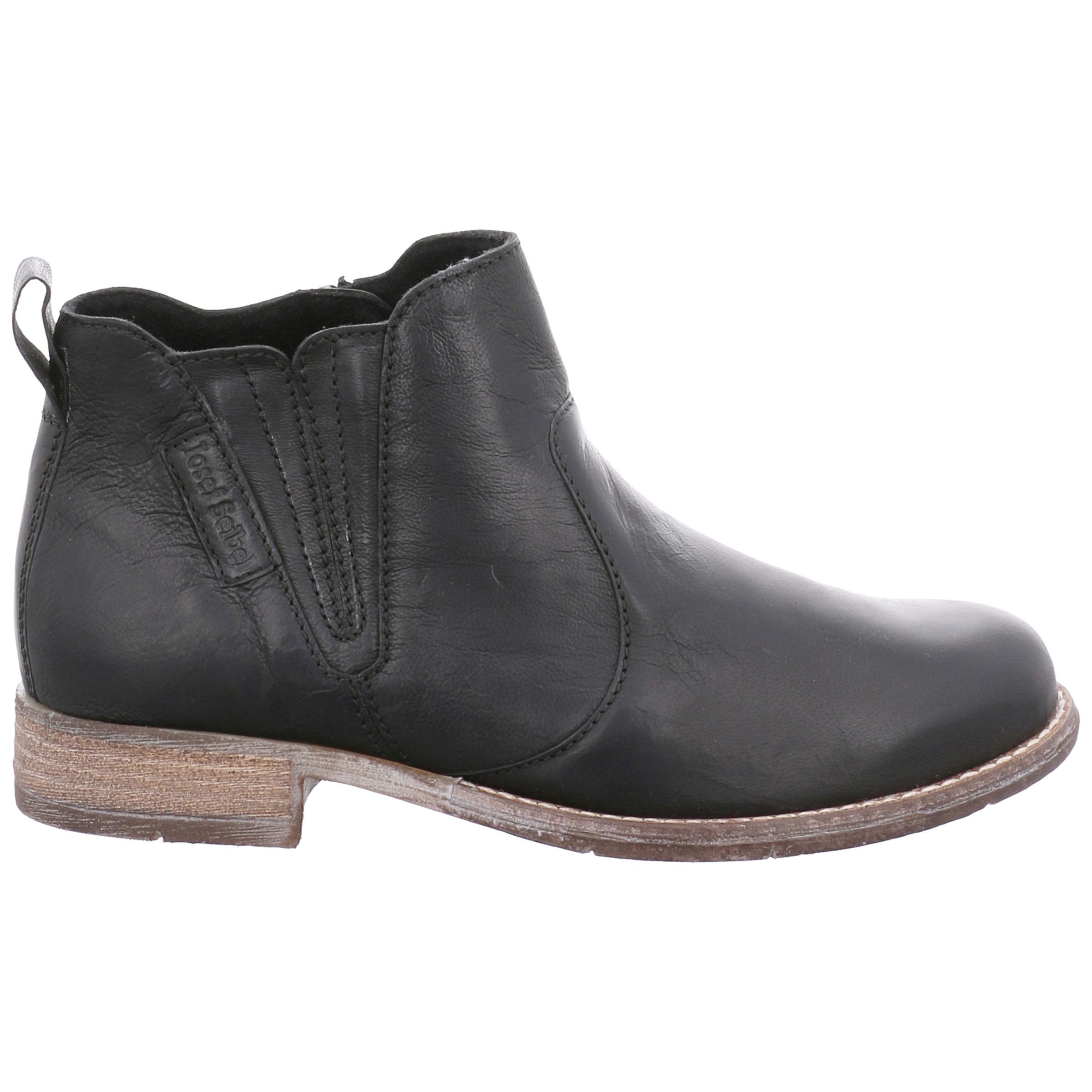Josef Seibel Josef Seibel Sienna 45 Block Heel Ankle Boots, Black Leather