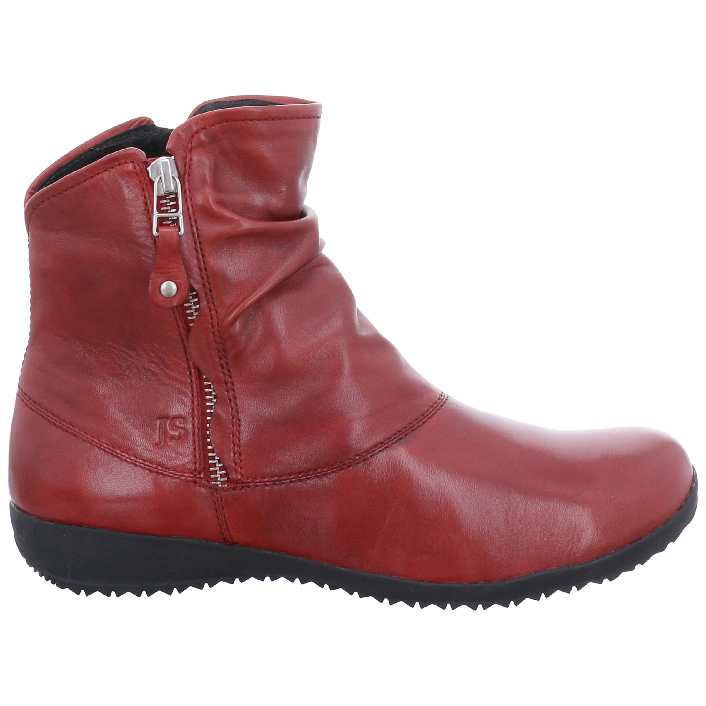 90250a1f Josef Seibel Naly 24 Ankle Boots, Red Leather at John Lewis & Partners