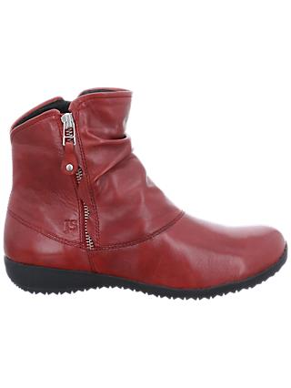 Josef Seibel Naly 24 Ankle Boots, Red Leather
