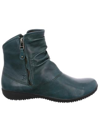 Josef Seibel Naly 24 Ankle Boots, Blue/Green Leather