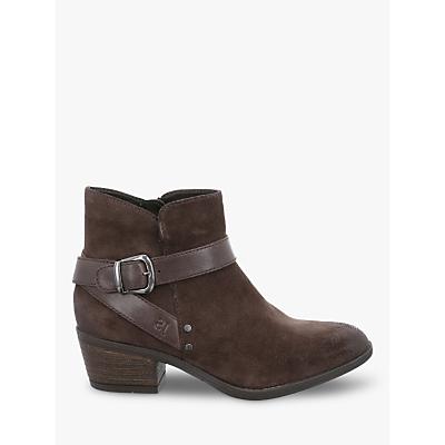Josef Seibel Daphne Block Heel Ankle Boots, Vulcano Suede