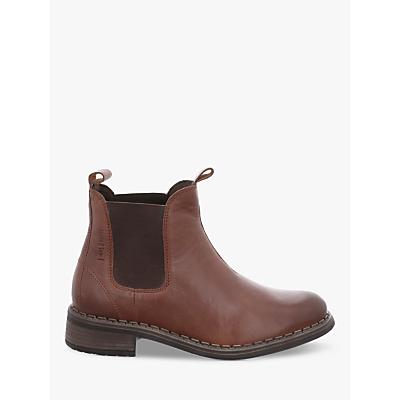 Josef Seibel Selena 11 Block Heel Chelsea Ankle Boots, Brown Leather