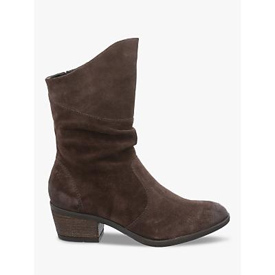 Josef Seibel Daphne 37 Mid Calf Block Heel Boots, Vulcano Suede